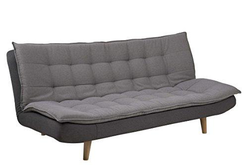 AC Design Furniture Bettcouch Nilli, B: 195 x T:110 x H: 91,5 cm, Stoff, Grau