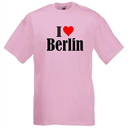 """T-Shirt """"I Love Berlin"""" für Damen Herren und Kinder in Pink Pink"""