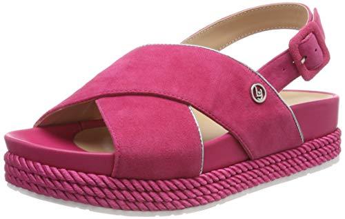 Liu Jo Shoes Patty 02-Sandal Kid Suede Geranium, Punta Aperta Donna, Rosso 81945, 38 EU