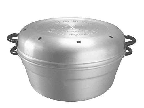 Pardini forno versilia, alluminio, grigio, 30x26x16 cm
