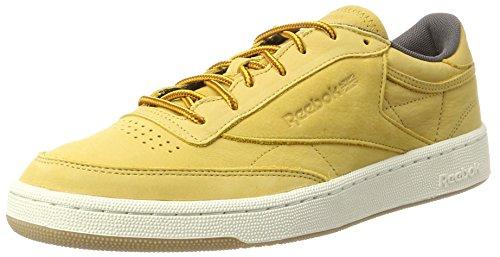 Reebok Herren Club C 85 WP Gymnastikschuhe, Gold (Golden Wheat/Urban Grey/Chalk-Gum), 42.5 EU (Gold Chalk)