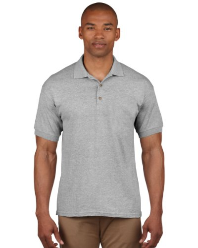 Gildan 3800 Ultra Cotton Erwachsene Combed Ringspun Pique Polo Shirt Sport Grau XL