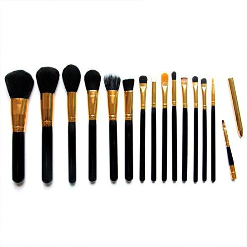 MuSheng(TM) Pinceaux pour le visage l'ombre de 15pcs professionnels cosmétiques maquillage la brosse douce sourcils kit + sac sac