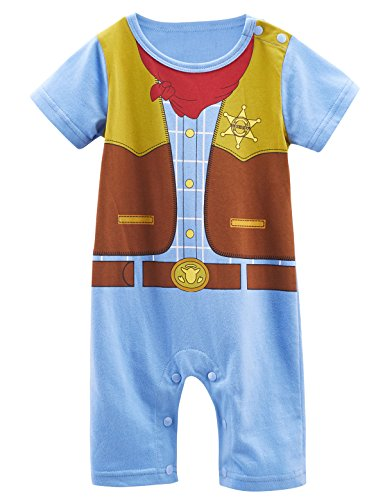 Mombebe Bambino Ragazzi Cowboy Costume pagliaccetto (Cowboy, 0-6 months)