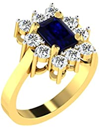 [Sponsored]His & Her Gold, Solitaire And Blue Sapphire Ring For Women