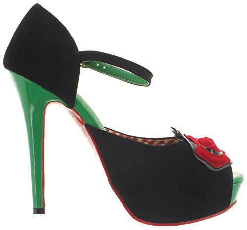 verde Pompe Di Nero Giorni Danza Per La Donna Epy0qy