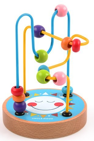 Mideer Mini Wire Bead Maze Puzzle Game Wooden Montessori Educational Toys for Children Baby Kids Gift - Edu Toys (Sun)