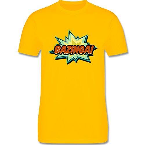Comic Shirts - Bazinga! - Herren Premium T-Shirt Gelb
