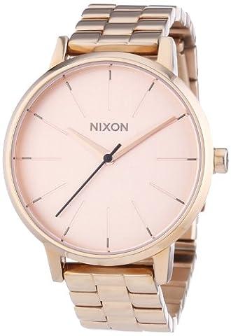 Nixon - A099897-00 - Montre Femme - Quartz Analogique - Bracelet Acier Inoxydable Doré