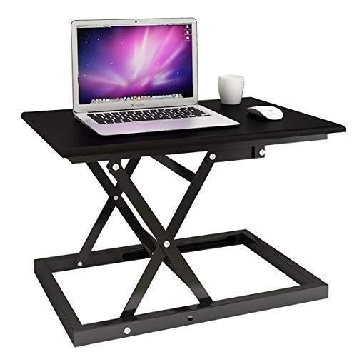 Mobile Werkbank Tisch (Hubtisch Tisch Stehend Notebook Hubtisch Desktop Office Computer Tisch Home Desk Klappbar Mobile Werkbank Halterung Tisch Kostenlose Installation (Color : Black))