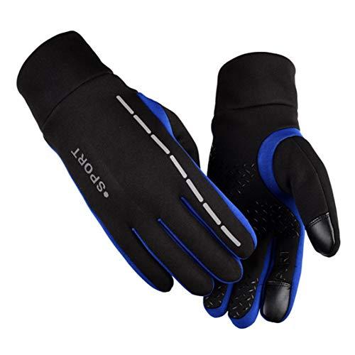 happy event Männer Winter Bildschirm verdicken Reiten winddicht wasserdicht warm Leder Handschuh (XL, Blau) - Gps-lock