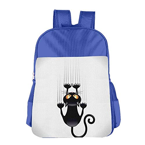 Naughty Cat Scratching The Wall with His Paws Children School Backpack Carry Bag for Kids Boys Girls