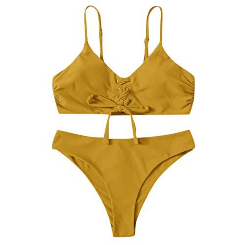 Frau Kostüm Baby Alt - Badeanzug-Bikini-Frau Push-up-BH Bikini aufgefüllte Sommerbadebekleidung Tops und Streifen-Badeanzug Sexy Badeanzug-Bikini-Set Bade Swimwear Sommer-Fashion Tops und Stripes swimsuit swimanzug swimwear