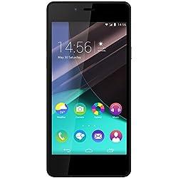 Wiko Highway Pure Smartphone débloqué 4G (Ecran: 4,8 pouces - 16 Go - Simple Nano-SIM - Android) Noir/Gris