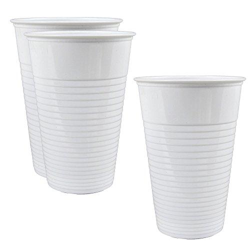1000 Stk. Qualitäts Trinkbecher weiß 0,2 l. Einwegbecher Ausschankbecher Becher Plastikbecher Weiße Becher