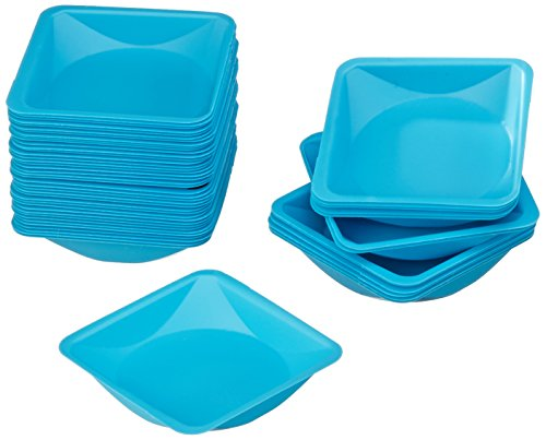 Neolab 1 1130 Disposable Weighing Bowl, 41 mm x 41 mm x 8 mm – Blue (Pack of 100)