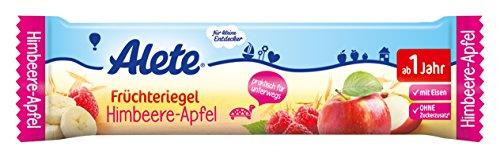 Alete Früchteriegel Himbeere-Apfel, 18er Pack (18 x 25 g) (Nicht Verarbeitete Lebensmittel)