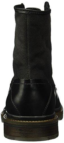 Daniel Hechter 821215501069, Bottes mi-hauteur avec doublure chaude homme Noir - Schwarz (Black Black 1010)