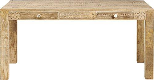 Kare Design Tisch Puro Plain, Natur, Esstisch aus Massivholz Mango, Platz für 4-6 Personen, handgeschnitzt, Esszimmertisch Mango Massiv, (H/B/T) 76x160x80cm -