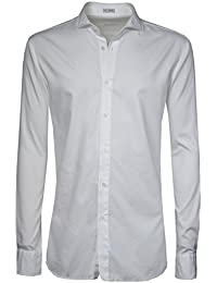 SIGNUM Hemd Herren Langarm Slim Fit I Bügelleicht durch Lycocell-Anteil I mehrere Farben I Größen S - 4XL (Übergröße)
