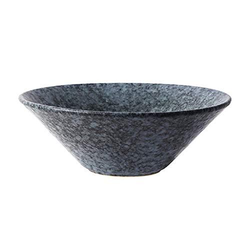 esteck Set Creative Bowl Restaurant Dish Western Plate, graue Keramikschale große Müslischale Schüssel Essen Container Kochen Essen Geschirr Obstsalat Schüssel Set ()