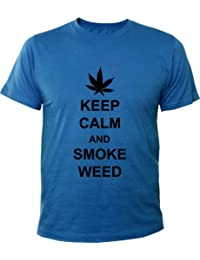 Mister Merchandise Homme Cool Chemise Occasionel T-Shirt Keep Calm and Smoke Weed