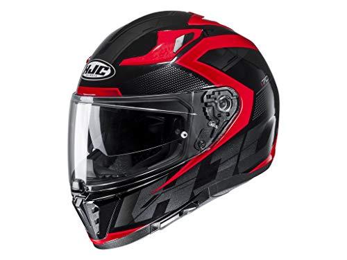 Preisvergleich Produktbild Motorradhelm HJC i70 ASTO MC1,  Schwarz / Rot,  XL