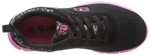 Brütting Cosmos, Chaussures de course femme Noir - Schwarz (schwarz/pink)