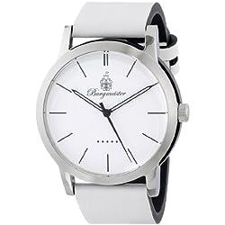 Burgmeister Ibiza Women's Quartz Watch with White Dial Analogue Display and White Leather Strap BM523-186