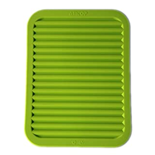 Best Silikon-Topflappen, Topfuntersetzer Mat, Backen Gadget Kitchen Table Mat - Wasserdicht, Wärmeschutz, Anti-Rutsch-, Topfuntersetzer, Besteck Pad Untersetzer 22 X 30 cm (grün)