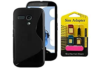 Moto G, Wellmart Back Case Cover Combo Offer For Moto G + Metal Sim Card Adapter (Super Saver)