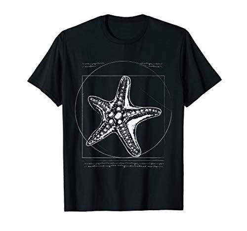 Vitruvianischer Seestern Kostüm Bild Zeichnung Seestern T-Shirt (Kostüm Zeichnungen)