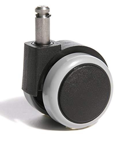 Topstar Rollenset (Set = 5 Rollen) 6990-3, Design-Hartbodenrollen GAP, Bürostuhlrollen, Stiftgröße 10mm, Durchmesser 55mm