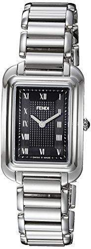 Fendi Women's Steel Bracelet & Case Anti Reflective Sapphire Swiss Quartz Black Dial Watch F701031000