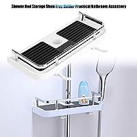 Angelo Morris Bathroom Shower Shelf Stainless Steel No Drill Shower Organiser Soap Shampoo Holder Stand