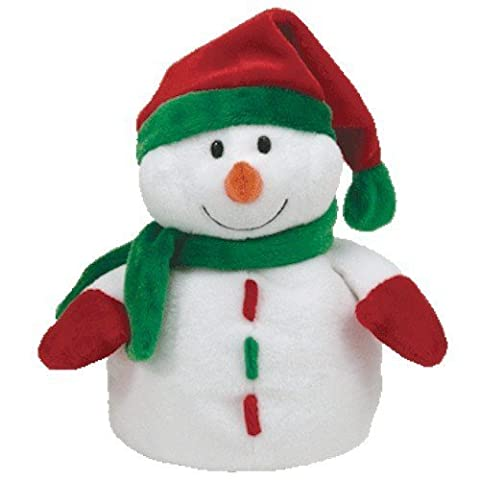 TY Pluffies Icicles Snowman with Hat by Ty (English Manual)