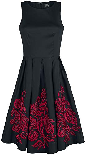 Dotty Flower (Dolly and Dotty Anna Adorable Embroidery Flower Mittellanges Kleid schwarz/rot M)