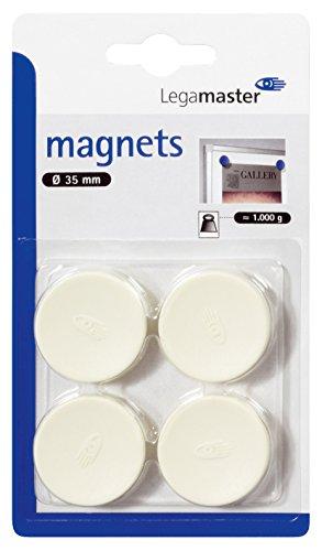 Legamaster Haftmagnete Whiteboard-Zubehör, circa 1000 g, 35 mm, weiß