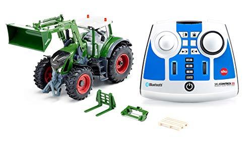 SIKU 6796, Fendt 933 Vario Traktor, Grün, Metall/Kunststoff, 1:32, Ferngesteuert, Inkl. Bluetooth-Fernsteuerung und Zubehör, Steuerung via App möglich