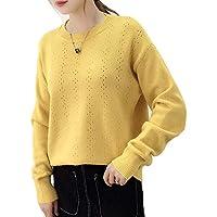 DEED Frauen - Herbst Und Winter Damenbekleidung, Pullover Pullover, Damenjacke, Lose Wilde Einfarbig Atmungsaktiv Rundhals Strickboden Shirt Frauen