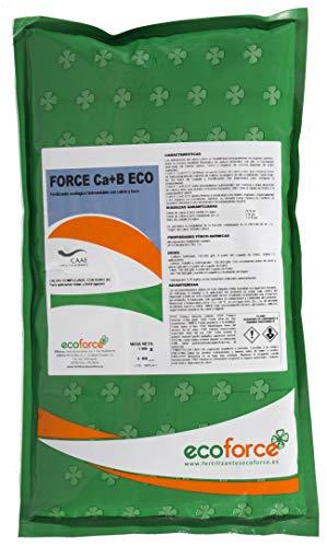 CULTIVERS Force Ca+B Eco de 1 kg. Corrector de Calcio y Boro ecológico hidrosoluble para Mejorar la firmeza, el cuajado de Frutos y los Problemas de rajado