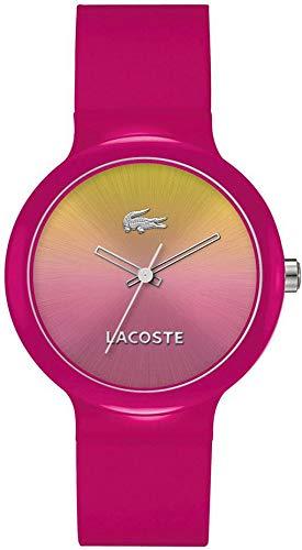 Lacoste Goa - Reloj para Mujer, con Correa de plástico, de Color Multicolor