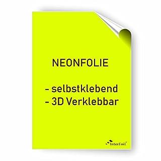 NEONFOLIE selbstklebend, 3D verklebbar - Neongelb im DIN A4 Format von Interfoil
