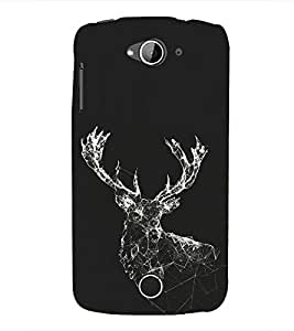 Shinning Reindeer 3D Hard Polycarbonate Designer Back Case Cover for Acer Liquid Zade Z530 :: Acer Liquid Zade Z530S
