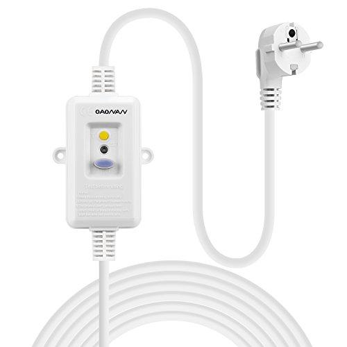 240v Verdrahtung (OAONAN Fehlerstrom Schutzeinrichtungen Personenschutz Stecker mit Verlängerung Kabel 1.5m 220-240VAC 16Amp)