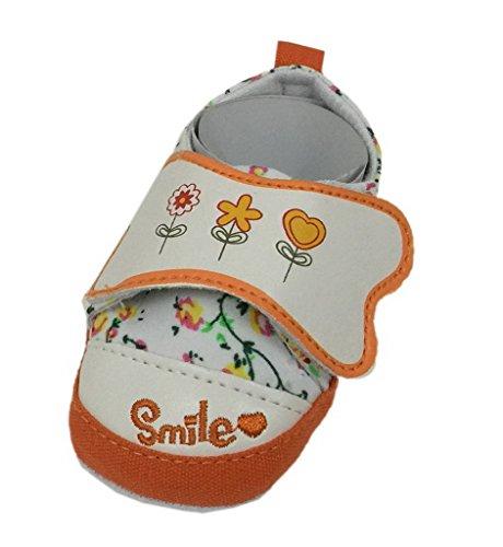 Bigood 1 Paar Lieb Baby Schuh 0-6 Monate Babyschuh Lauflernschuhe Krabbelschuhe 13cm Orange