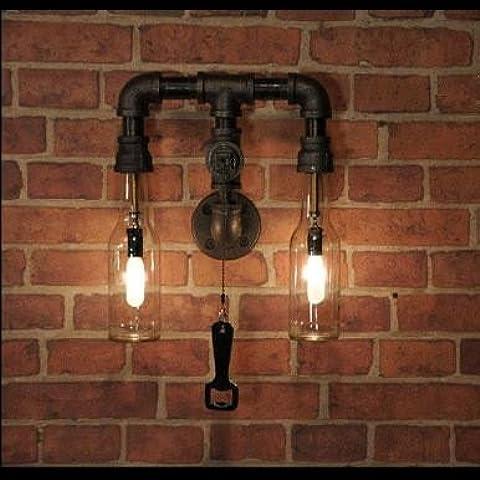 kinine Vento industriale di acqua in bottiglia lampada di illuminazione decorativa retrò personalità creative bar e caffè ristorante negozio di abbigliamento lampade da parete