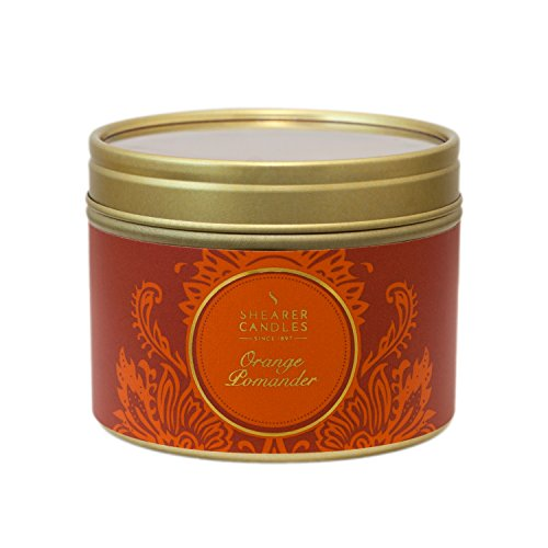 Shearer Candles Orange Pomander Small Scented Gold Tin Candle - Orange (2013-08-01)