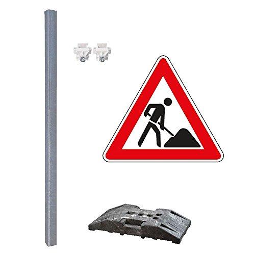 TMS PRO SHOP Schilder-Set, mit Verkehrszeichen Nr. 123u0022Achtung Baustelle, 5-teilig