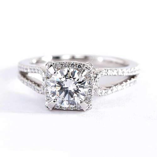 Verlobungsring 18 Karat Weißgold 1,35 Karat SI2 G Diamant Brillantschliff GIA-zertifiziert